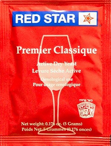 Red Star Montrachet Wine Yeast, 5g - 10-Pack