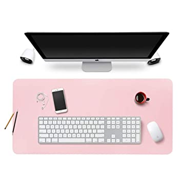 BUBM Verl/ängerte PU-Leder Mauspad Schreibtischunterlage,Ultra Thin Waterproof Schreibmatte f/ür B/üro//Home Rosa, L