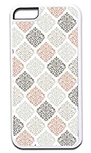 03-Colorful Damasks- Case for the APPLE IPHONE 6 plus (5.5) ONLY!!!-Hard White Plastic Outer Case