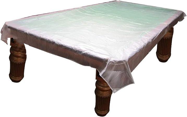 PENGFEI Funda Protectora Muebles Jardín Cubierta Exterior Transparente Mesa De Billar Cubiertas De Polvo Impermeable Impermeable, Ojal (Tamaño : 290x155CM): Amazon.es: Hogar