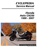 CPP-131-P Honda CN250 HELIX Cyclepedia Scooter Printed Service Manual