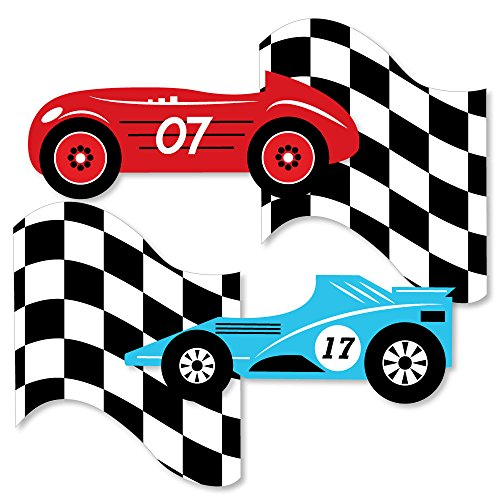 Let's Go Racing - Racecar - Decorations DIY Race Car Birthday Party or Baby Shower Essentials - Set of 20 ()