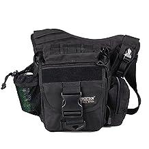 Seibertron Multi-functional Molle Shoulder Bags Motorcycle Bicycle Bag Black