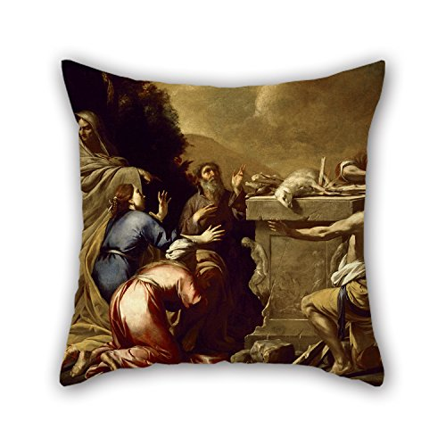 16 X 16 Inches / 40 By 40 Cm Oil Painting Attributed To Antonio De Bellis - The Sacrifice Of Noah Pillowcase ,2 Sides Ornament And Gift To Living Room,divan,lounge,girls,wedding,office