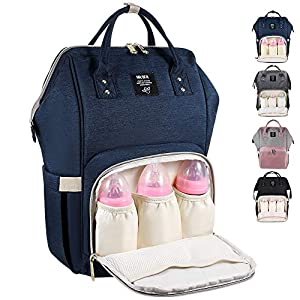 Diaper Bag Multi-Function Waterproof Travel Backpack Nappy Bag for Baby Care with Insulated Pockets, Large Capacity…