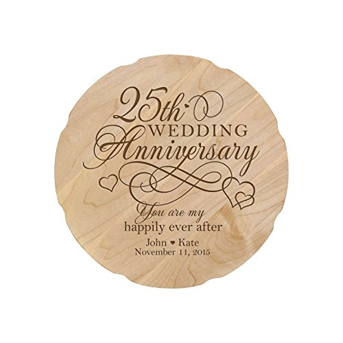 - LifeSong Milestones Personalized Wedding Anniversary Platter Gift for Couple, Custom Happy for Her 12