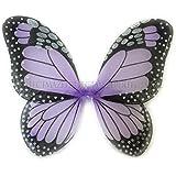 "Perfectmaze 14"" x 18"" Monarch Butterfly Wings Dress Up Halloween Costume (1X Pieces, Purple)"