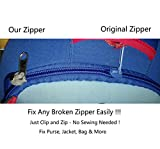 Universal Zipper Repair Kit Fix a Zipper Metal