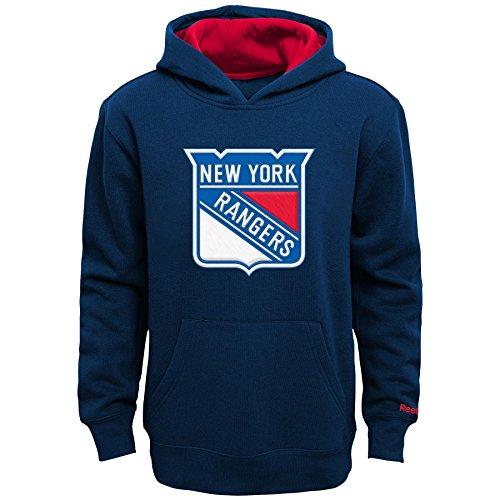 "NHL New York Rangers Youth Boys 8-20 ""Prime"" Basic Hoodie, Small, True Navy"