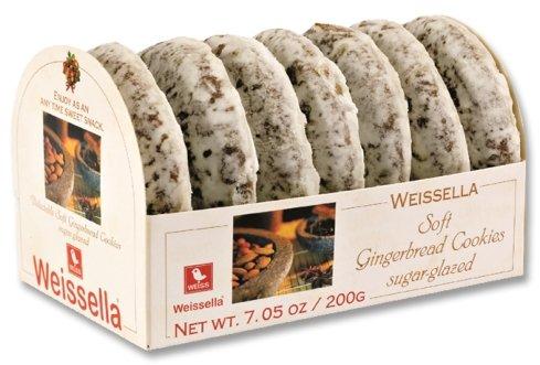 Weissella Soft Gingerbread Cookies Sugar-Glazed,7.05 oz