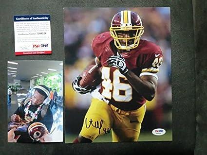 dd23d303c7e Alfred Morris Hot! signed Washington Redskins 8x10 photo PSA/DNA cert with  PROOF!