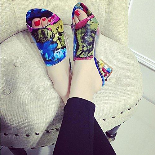DM&Y 2017 crudo de Europa y Am¨¦rica con una dama conjunto de fuentes sandalias de los pies de diamante zapatillas. sandalias y zapatillas con la cabeza de pescado suit