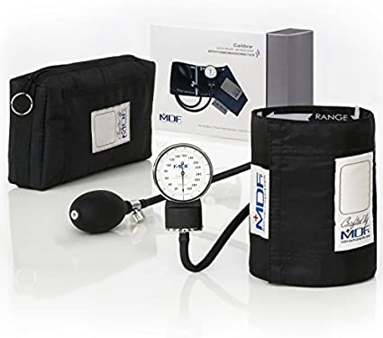 MDF® Calibra® Esfigmomanómetro aneroide Calibra - Monitor de presión arterial - Negro (NoirNoir) - (MDF808M-11)