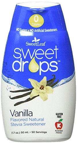 SweetLeaf Sweet Drops Liquid Stevia Sweetener (Vanilla, Pack of 2)