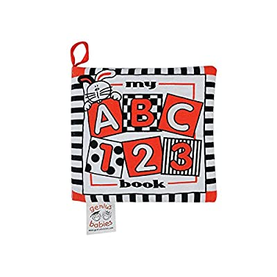 Baby's My First ABC Cloth Book - Black, White & Red : Baby Shape And Color Recognition Toys : Baby
