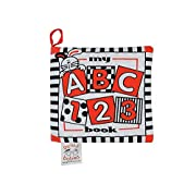 Baby's My First ABC Cloth Book - Black, White & Red - REVISED true Red Color