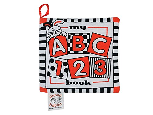 Alphabet Baby Clothes (Baby's My First ABC Cloth Book - Black, White & Red - REVISED true Red Color)