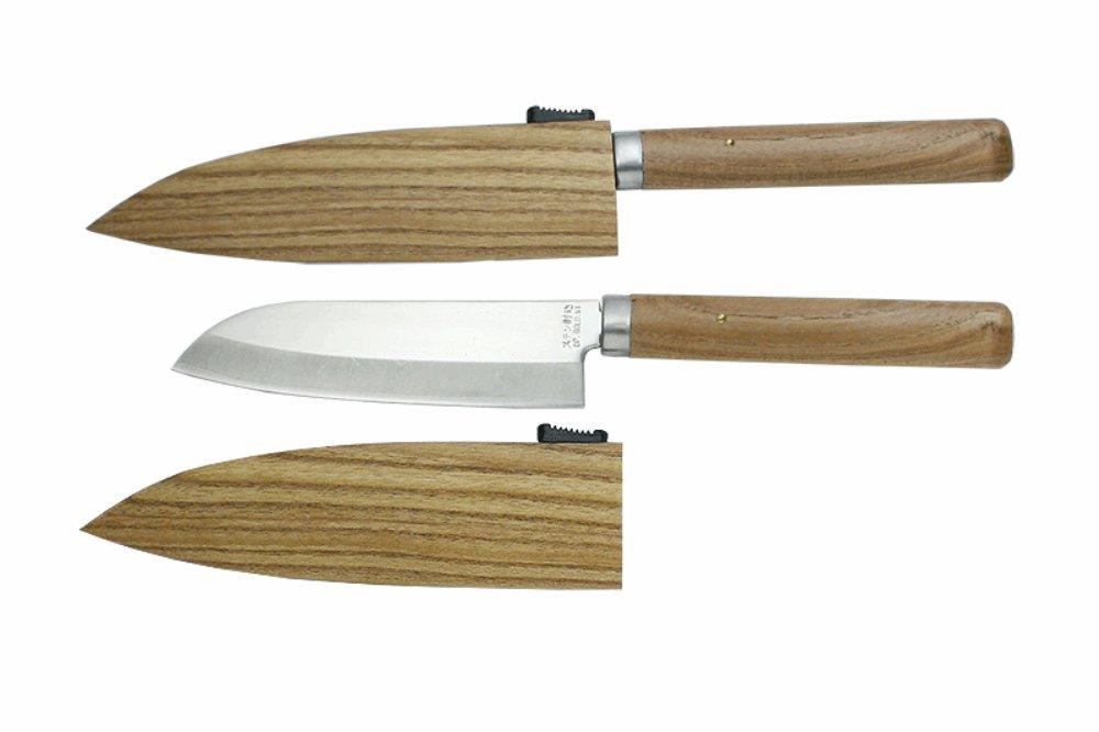 Kanetsune Fruits Knife With VG1 Clad blade (Santoku) w/ Sheath KC-079