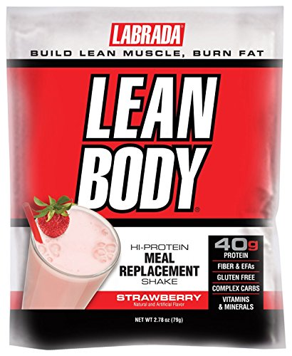 Labrada Nutrition Lean Body Meal Replacement Powder, Strawberry Ice Cream, 2.78-Ounce Packets (Pack of (Labrada Lean Body Shake)
