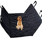 Cheap Pet Seat Covers for Car, Vitalismo Dog Car Seat Hammock Convertible Waterproof Mat Padded  Scratch Proof Machine Washable Nonslip for Cars Trucks and SUV- Black