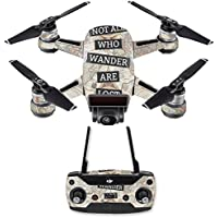 Skin for DJI Spark Mini Drone Combo - Who Wander| MightySkins Protective, Durable, and Unique Vinyl Decal wrap cover | Easy To Apply, Remove, and Change Styles | Made in the USA