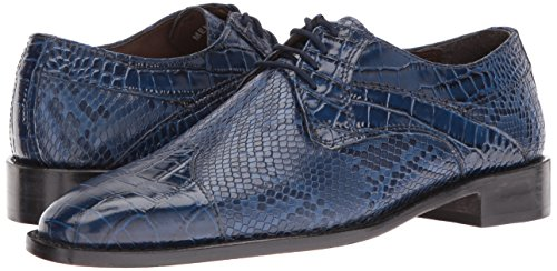 Stacy Adams Men's Rivello Modified Cap Toe Oxford, Dark Blue, 9.5 M US