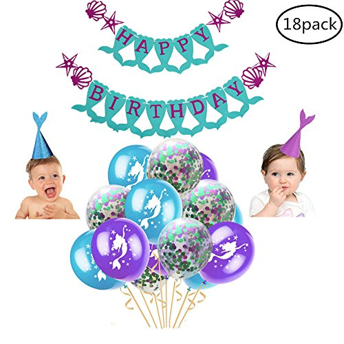 Little Mermaid Party Supplies Decorations for Girls Birthday