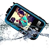 Fitiger Digital Camera 2.7 inch +1.8 inch Screens HD 1080P CMOS 16x Zoom Camcorder Mini Camera-Blue