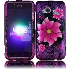 Divine Flower Hard Case Snap On Cover For HTC Droid Incredible 4G LTE 6410 Fireball