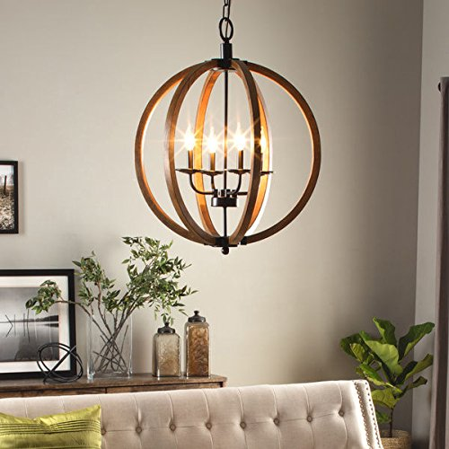 I Love Living Vineyard Orb 4-light Chandelier by I Love Living (Image #5)