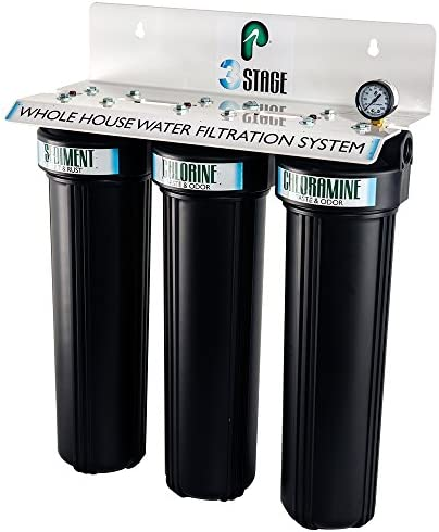 Pelican Water PRL-3 3 Stage – Whole House Water Filtration System, Black White
