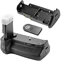 Neewer BG-1KIR Vertical Battery Grip with IR Remote Controlling for Canon EOS 6D Replacement for Canon BG-E13, Works with 1 or 2 Pieces LP-E6 or 6 Pieces AA Batteries