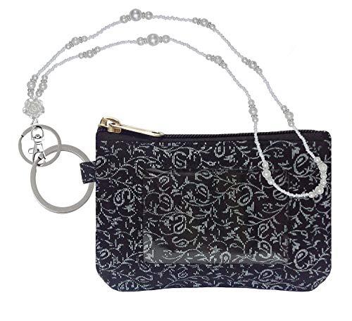 Zip ID Case, Pearl Lanyard/Key Wallet/Credit Card