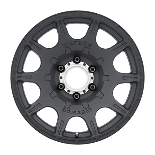 Method Race Wheels Roost Matte Black Wheel with Machined Center Ring (17x8.5''/5x4.5'') 0 mm offset by Method Race Wheels (Image #1)