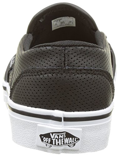 Vans Dames Asher Fabric Lage Top Slip Op Fashion Sneakers Zwart
