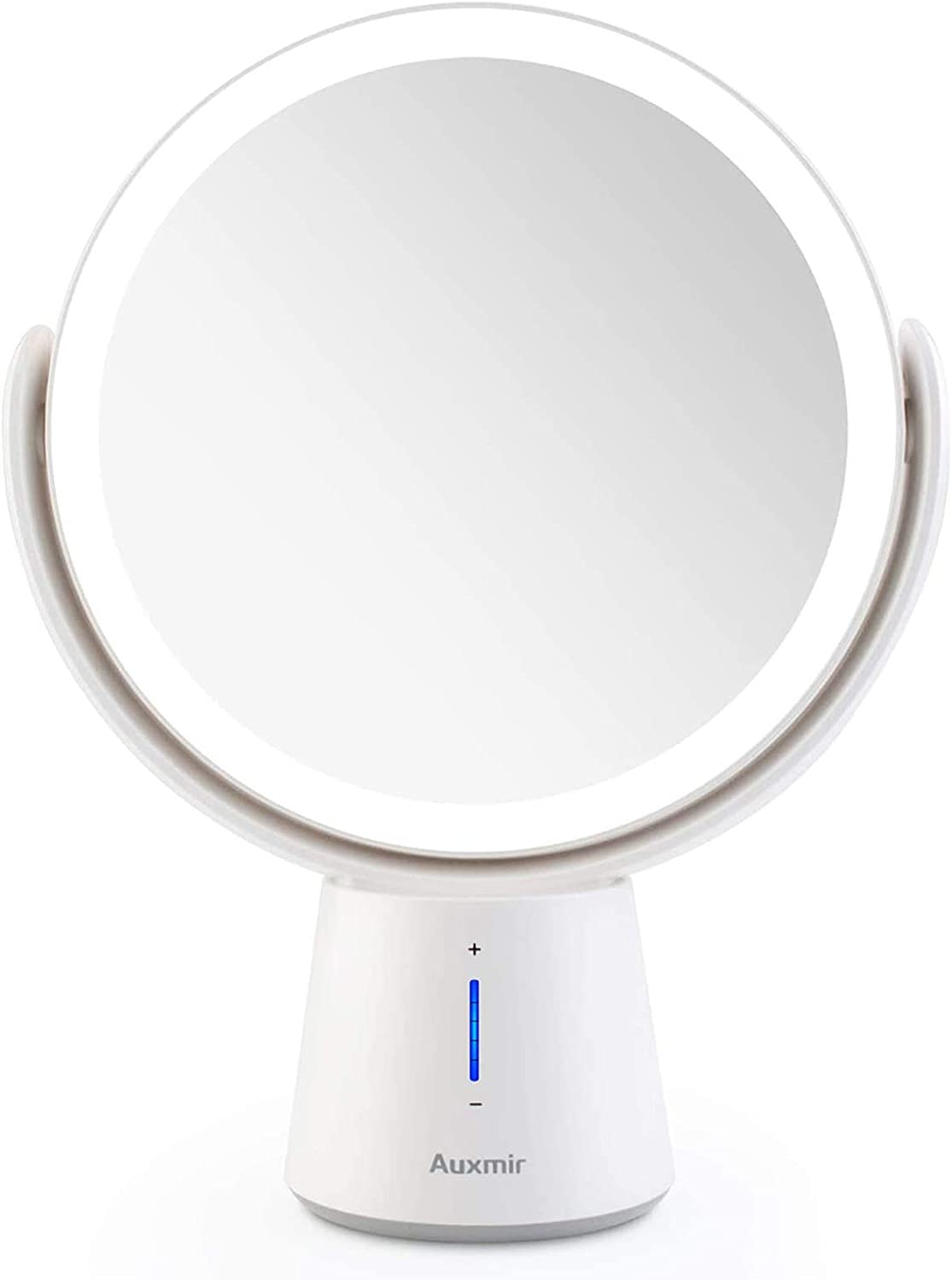 Auxmir LED Illuminated Cosmetic Mirror with 1X/10X Magnification
