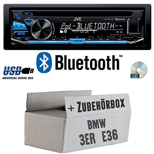 BMW 3er E36 - JVC KD-R871BT - Bluetooth CD/MP3/USB Autoradio - Einbauset JUST SOUND best choice for caraudio