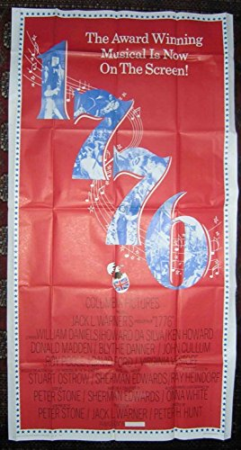 1776 (1972) Original Three-Sheet Movie Poster 41x81 Very Fine Condition KEN HOWARD WILLIAM DANIELS HOWARD DA SILVA !!FOUNDING FATHERS MUSICAL FILM!! Film Directed by PETER R. HUNT