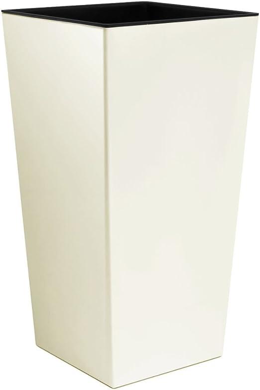 Blumenk/übel Pflanzk/übel 16L Blumentopf inkl Einsatz Kunststoff creme URBI