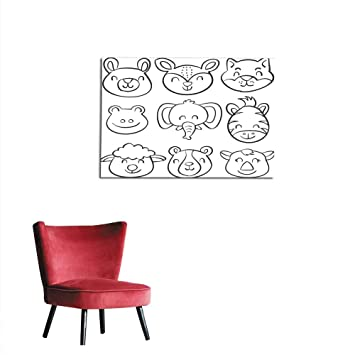 Image of: Cute Narwhal Image Unavailable Amazoncom Amazoncom Home Decor Wall Vector Illustration Animal Head Hand