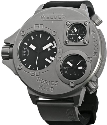 Welder by U-Boat K30 Oversize Triple Time Zone Stainless Steel Mens Sport Watch K30-9000