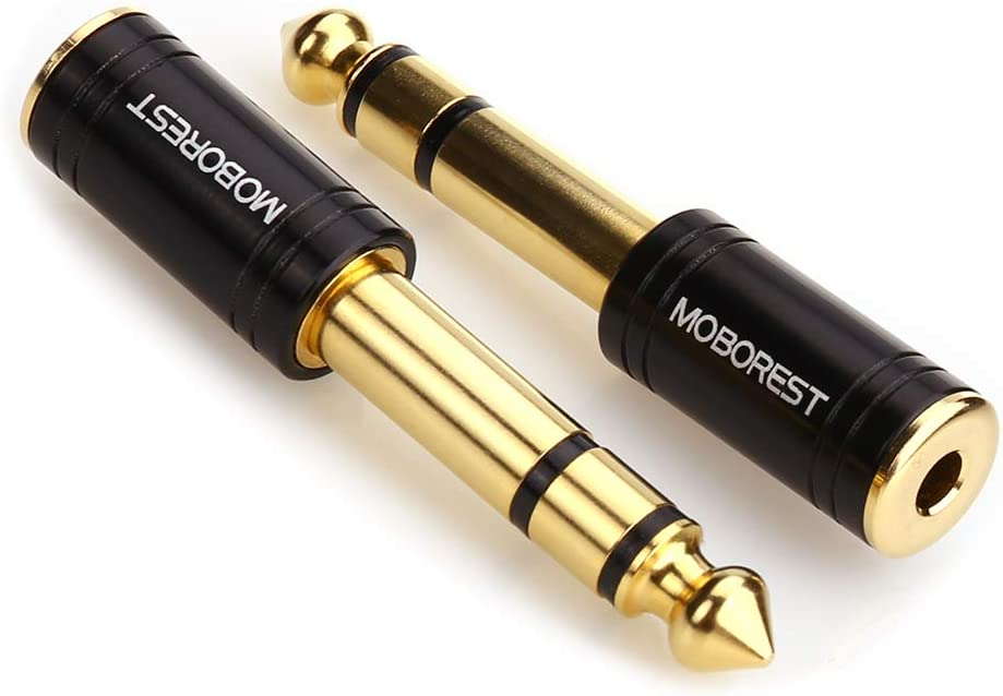 Male Headphone Adapter MOBOREST 3.5mm to 1//4 Adapter Black Fashion 2-Pack 1//8 Inch 3.5mm Female to 6.35mm 1//4 Inch Authentic Genuine Universal 6.35mm Pure Copper Adapter Jack