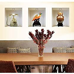 Hot Set 3 Art Wall Stickers 3D Room Picture Removable Home Decor