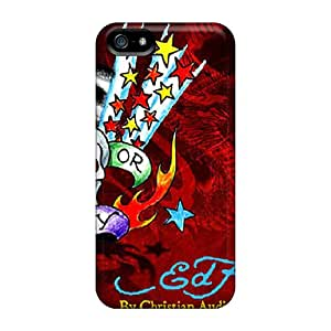 Awesome UYu8766aaPt Kristyjoy99 Defender Hard Cases Covers For Iphone 5/5s- Ed Hardy Red
