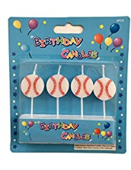 Baseball Birthday Candles - Novelty Party Candles Cupcake Toppers (Baseball)
