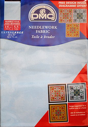 DMC Marble Aida Needlework Fabric 14-Count 20×30″-Blissful Sky