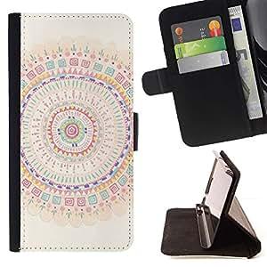 Momo Phone Case / Flip Funda de Cuero Case Cover - Mandala Arte colorido Espiritual - Sony Xperia Style T3