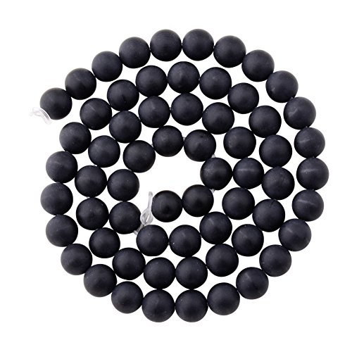 6mm Black Agate Round Beads - 5