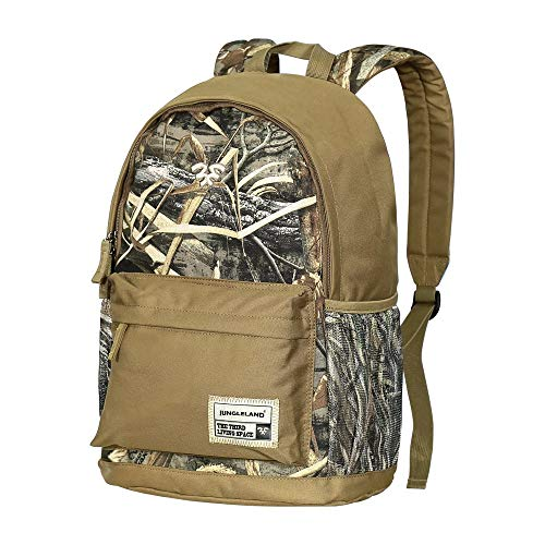Jungleland Camo Backpack Hiking Hunting Fishing School Laptop Tablet Pocket Backpack Travel Computer Backpack Many Interior Pockets 15.6inch -
