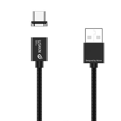 Magnética de tipo C Micro USB Cable Adaptador de sincronización de carga rápida para Samsung Huawei LG